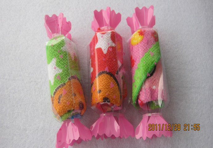 T/C Material Candy Packed Cake Towel (YT-1983)