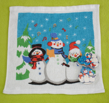 Christmas Compressed Towel Wiht Snowman Design (YT-679)