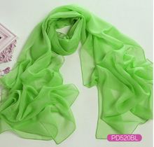 Chiffon Solid Color Long Scarf with Label as YT-PD505L