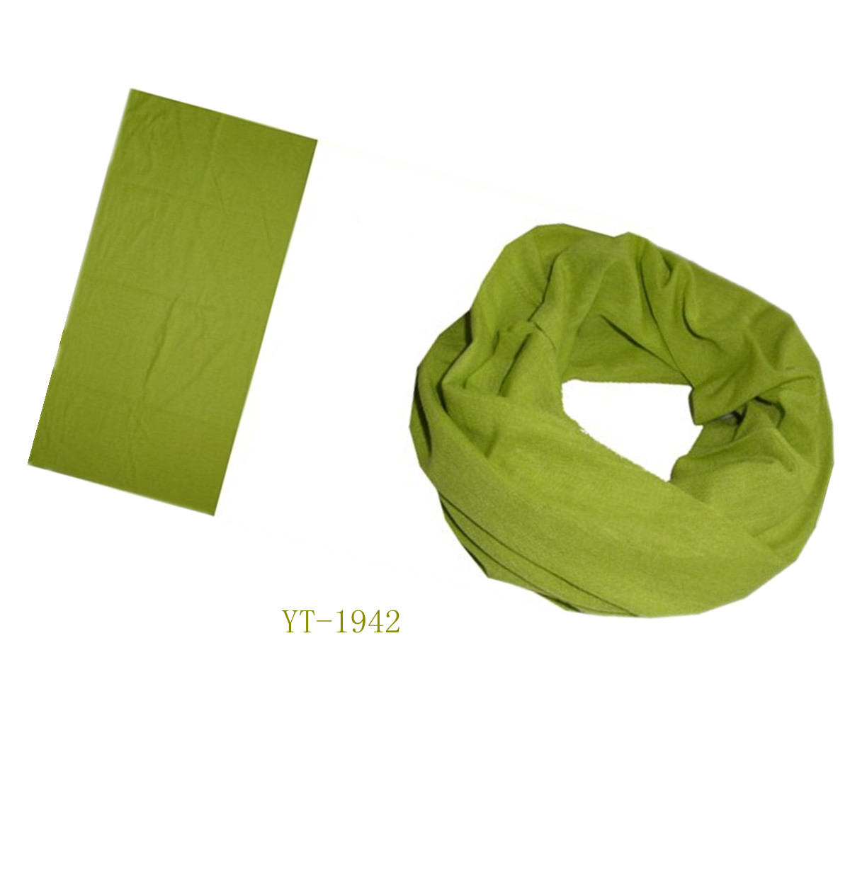 Neck Tube in Pure Green Color (YT-1942)