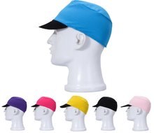 Solid color cyclist fabric cap